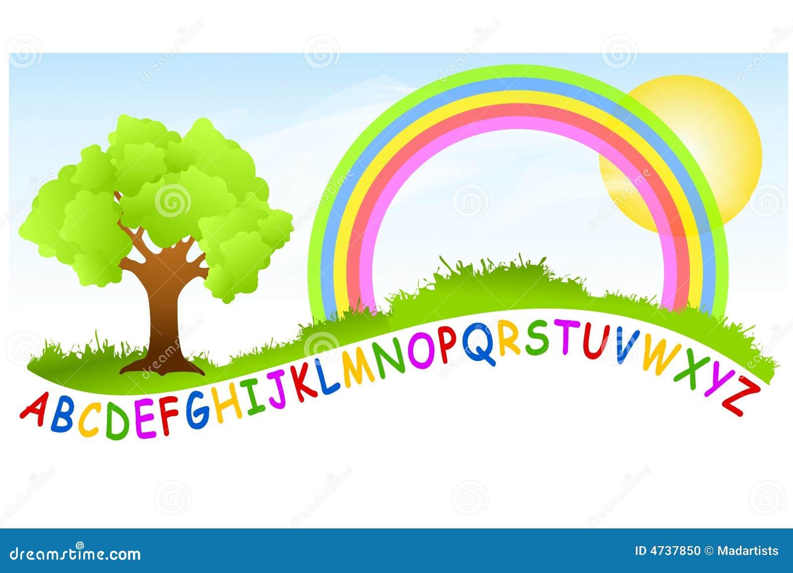 Arco iris del patio del alfabeto