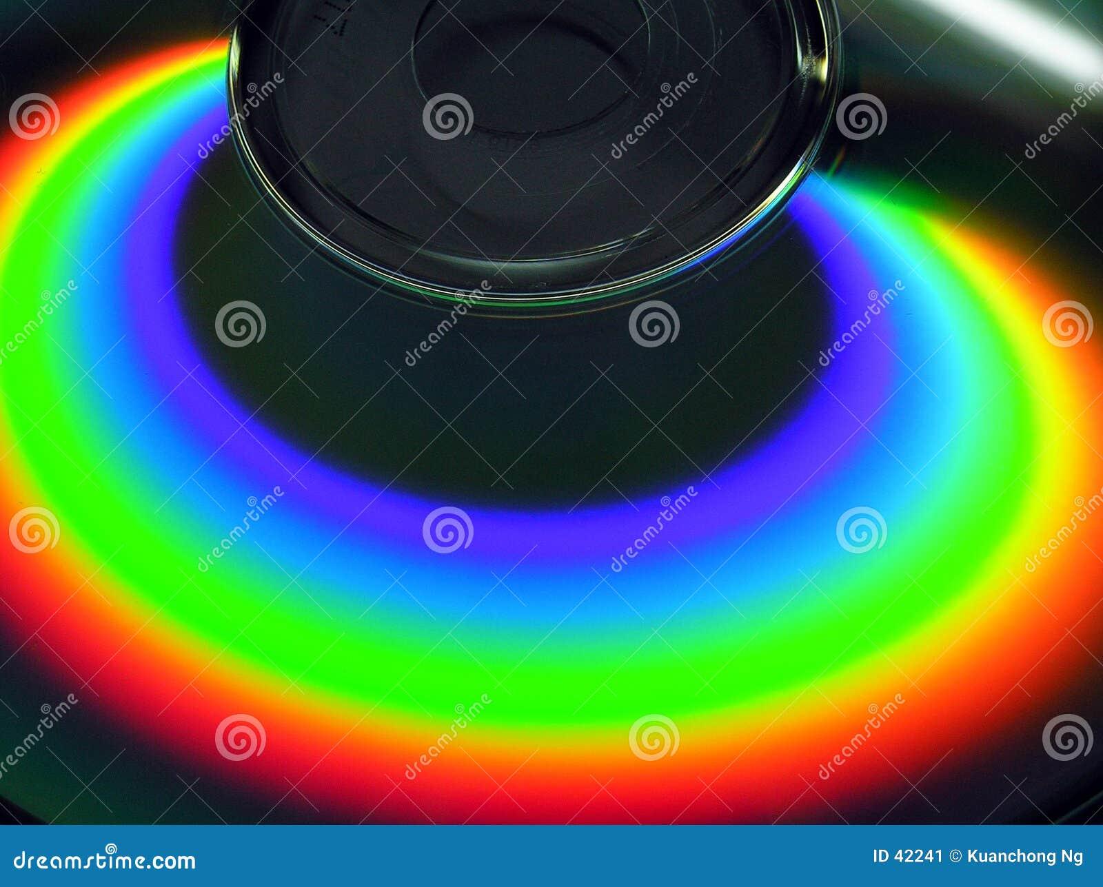 Download Arco iris en el CD imagen de archivo. Imagen de almacenaje - 42241
