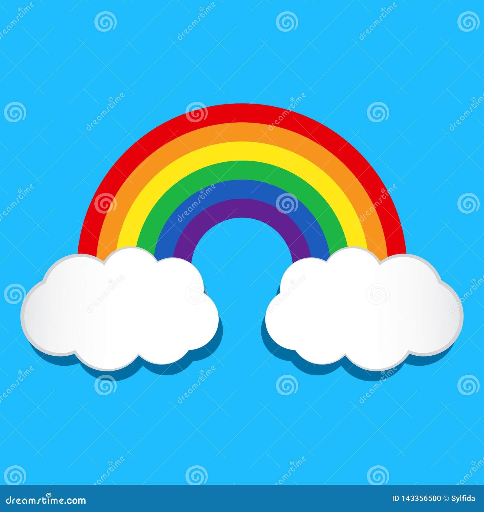 Arco iris y nubes Ilustraci?n del vector