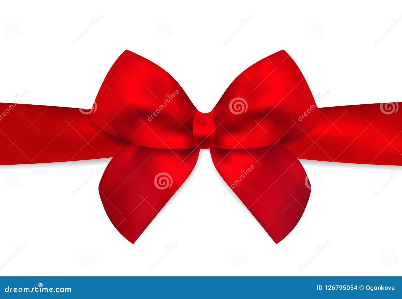 Arco Rojo Cinta Roja Para El Día De Fiesta Tarjeta De