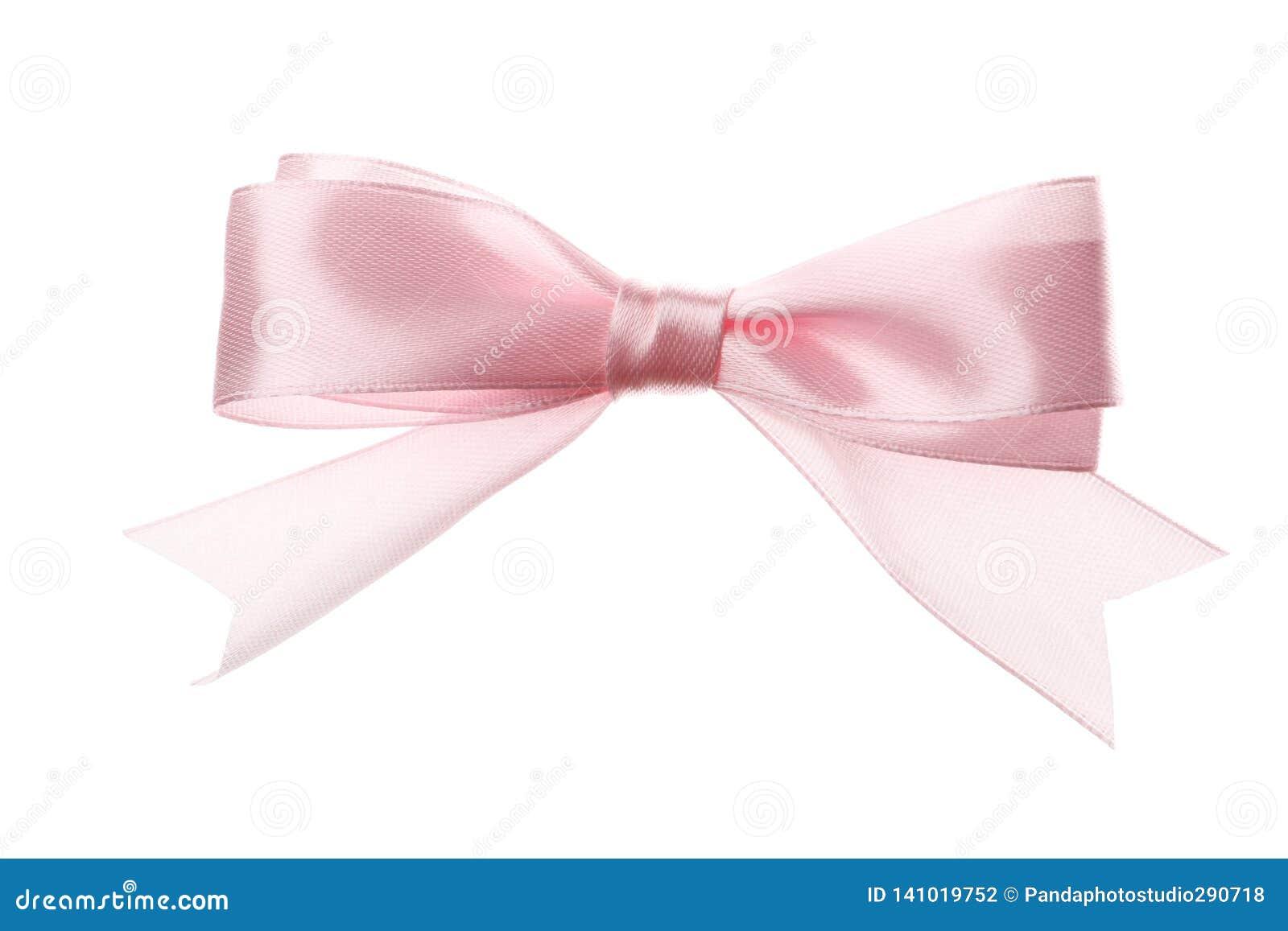Arco rosado aislado en el fondo blanco