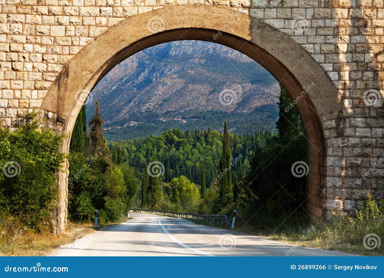 Arco scenico nel Croatia