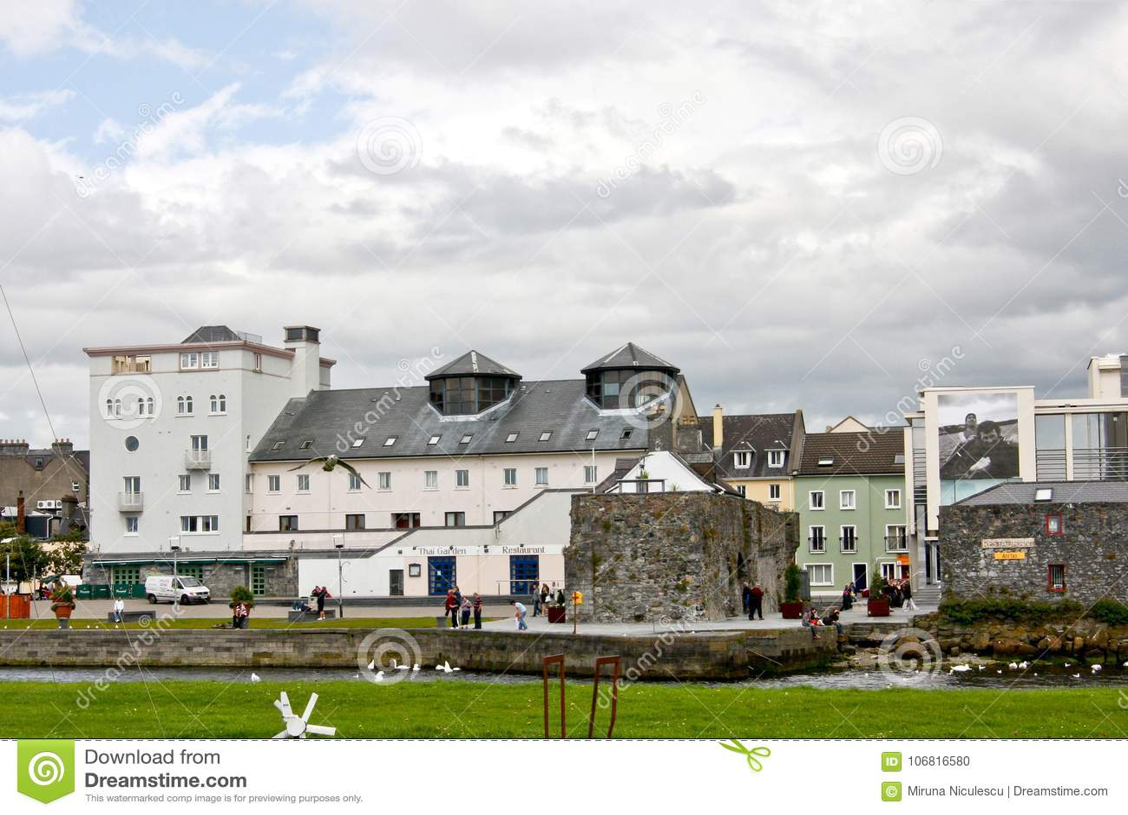 Arco spagnolo, casa del museo della città di Galway, vicino al fiume Corrib, città di Galway, contea Galway