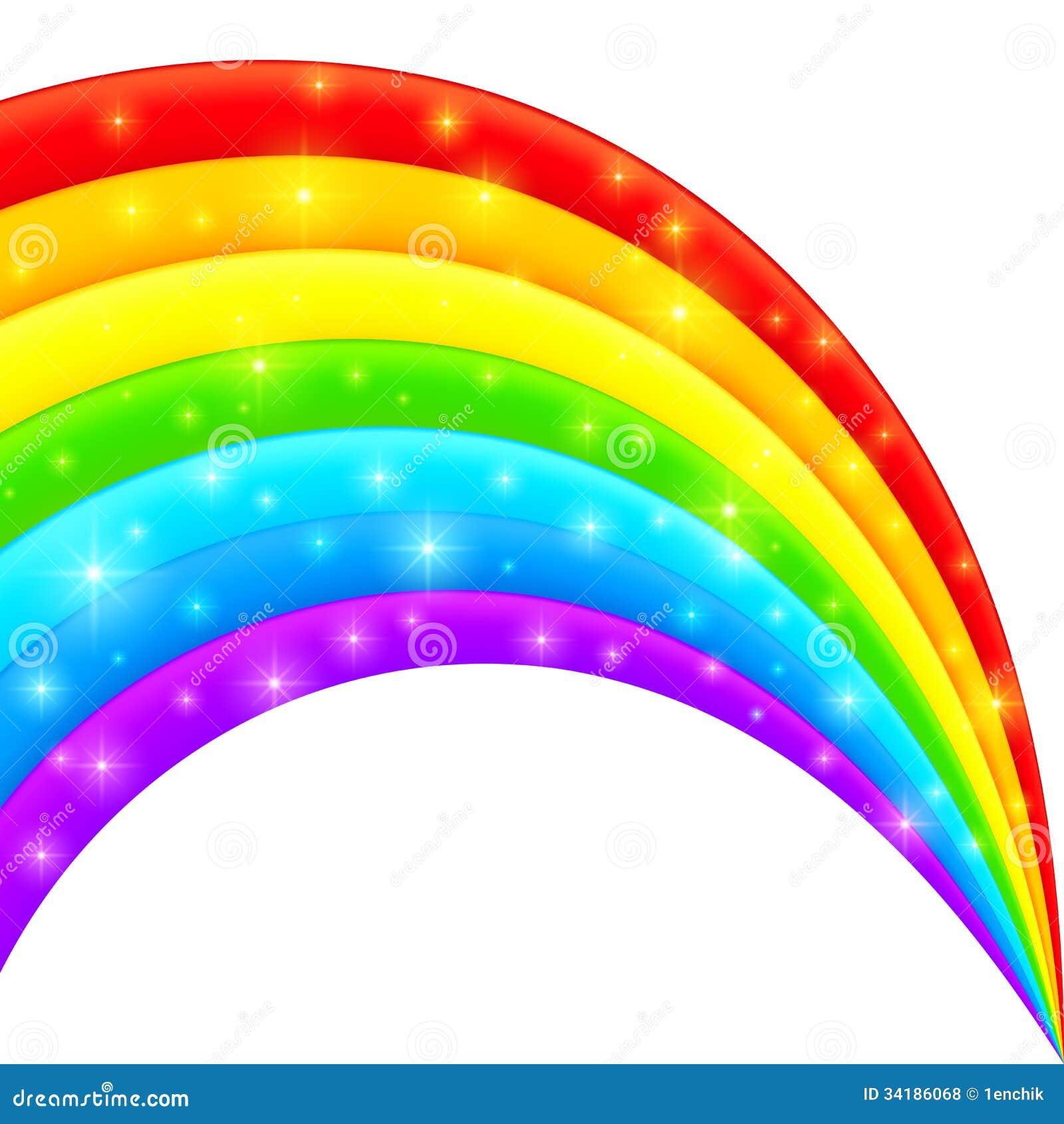 Arcobaleno brillante luminoso di plastica di vettore - Immagini di gufi arcobaleno ...
