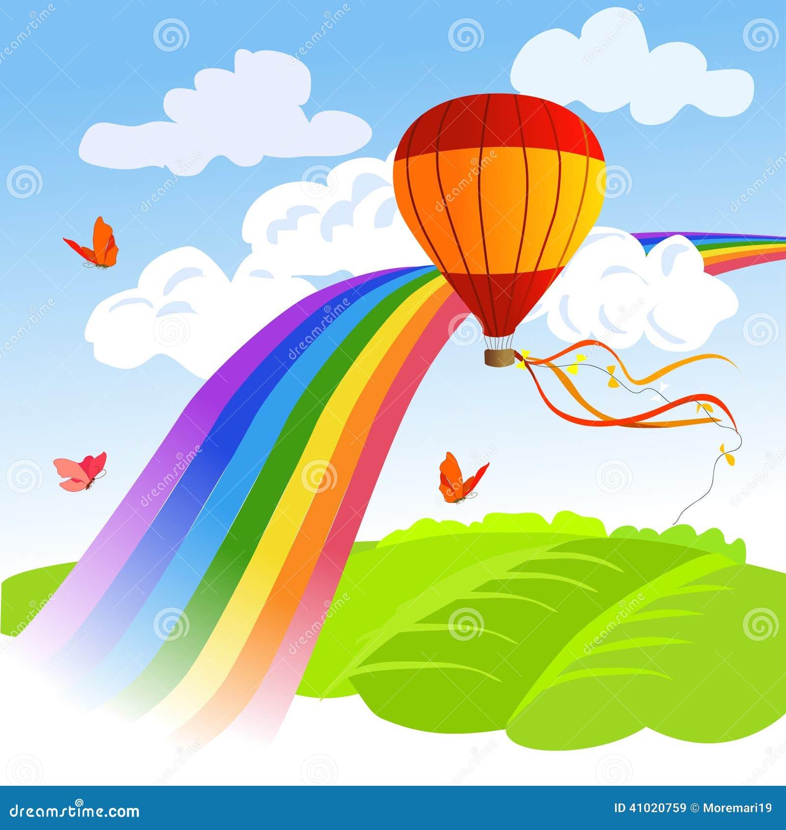 Arcobaleno, Paesaggio E Mongolfiera Illustrazione Vettoriale   Immagine  41020759 -> Lampadari Bambini Mongolfiera