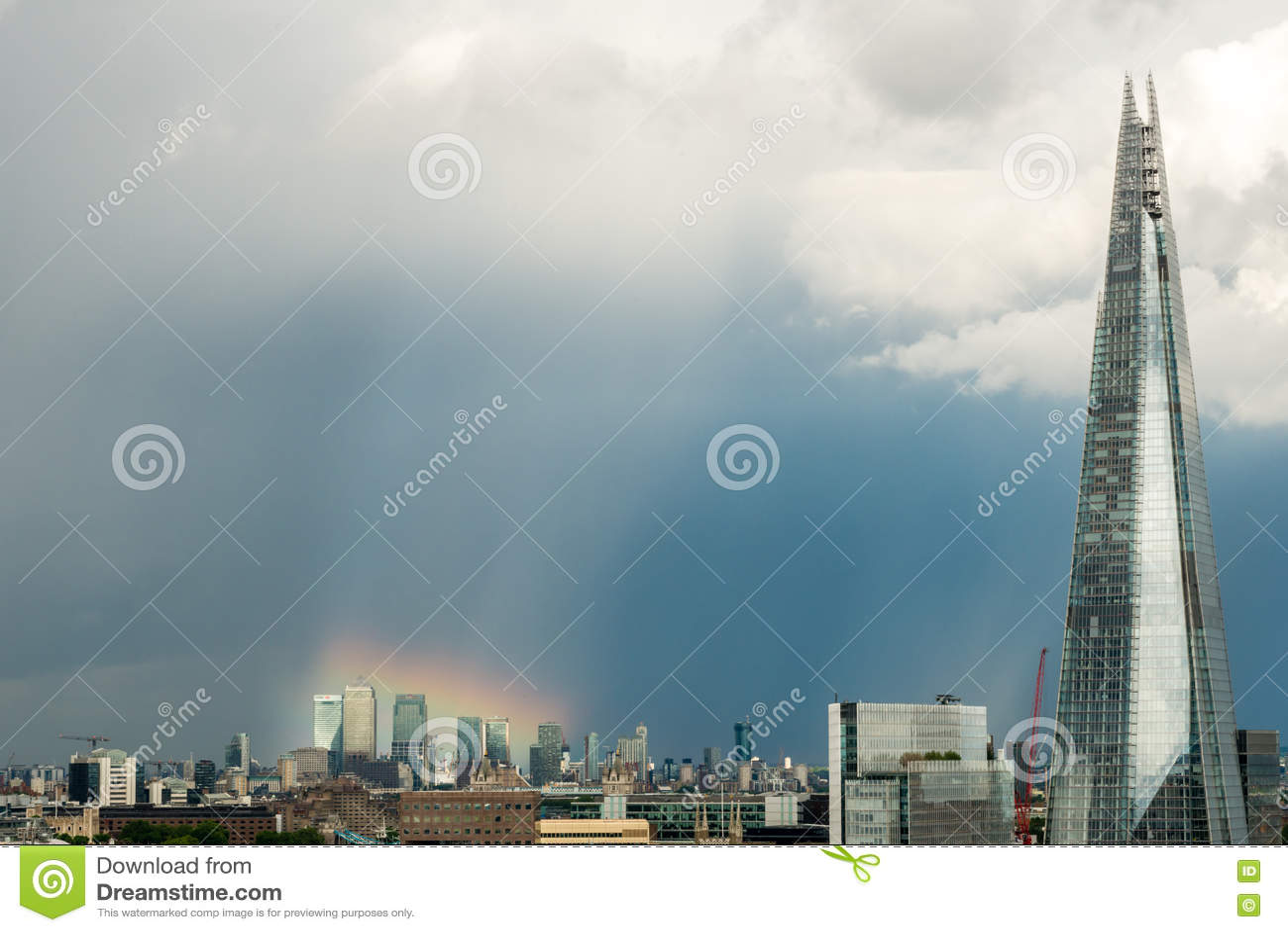 Arcobaleno sopra Canary Wharf