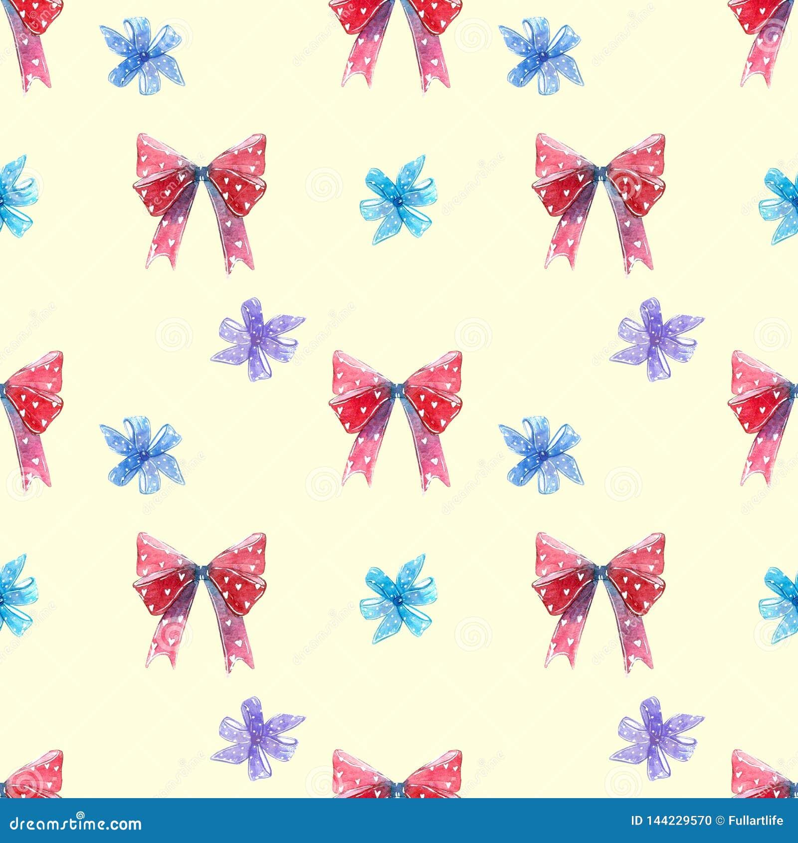 Arcos rojos y azules, lechón de la piruleta del remolino con el modelo inconsútil de los corazones