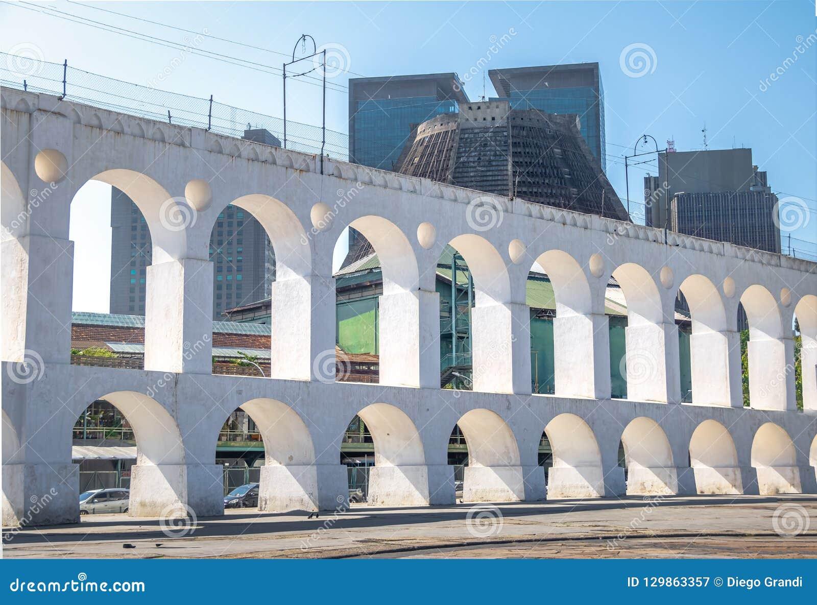 Arcos y catedral metropolitana - Rio de Janeiro, el Brasil de Arcos DA Lapa