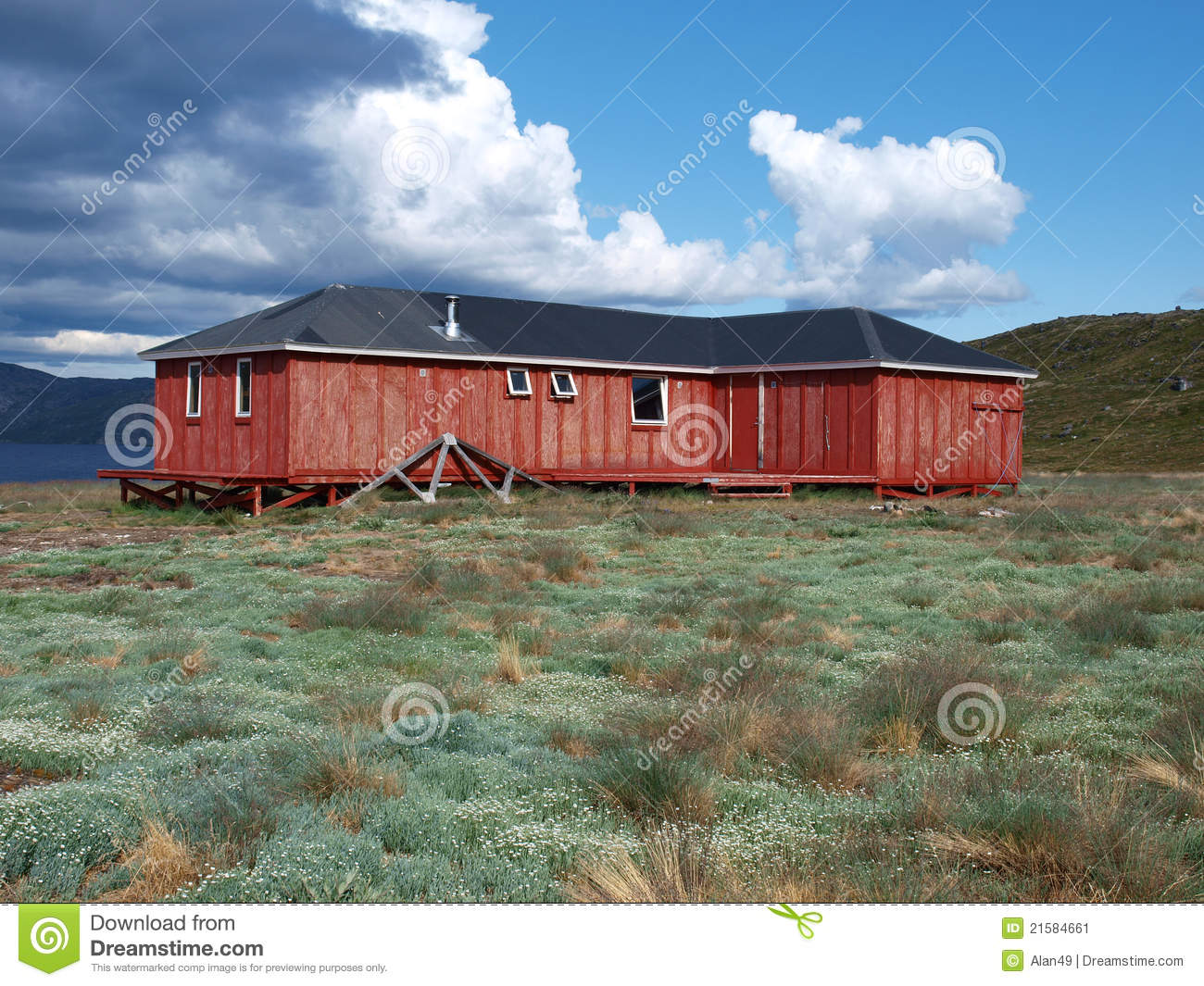 Download Arctic Circle Trail Hut, Greenland Stock Image - Image of greenland, center: 21584661