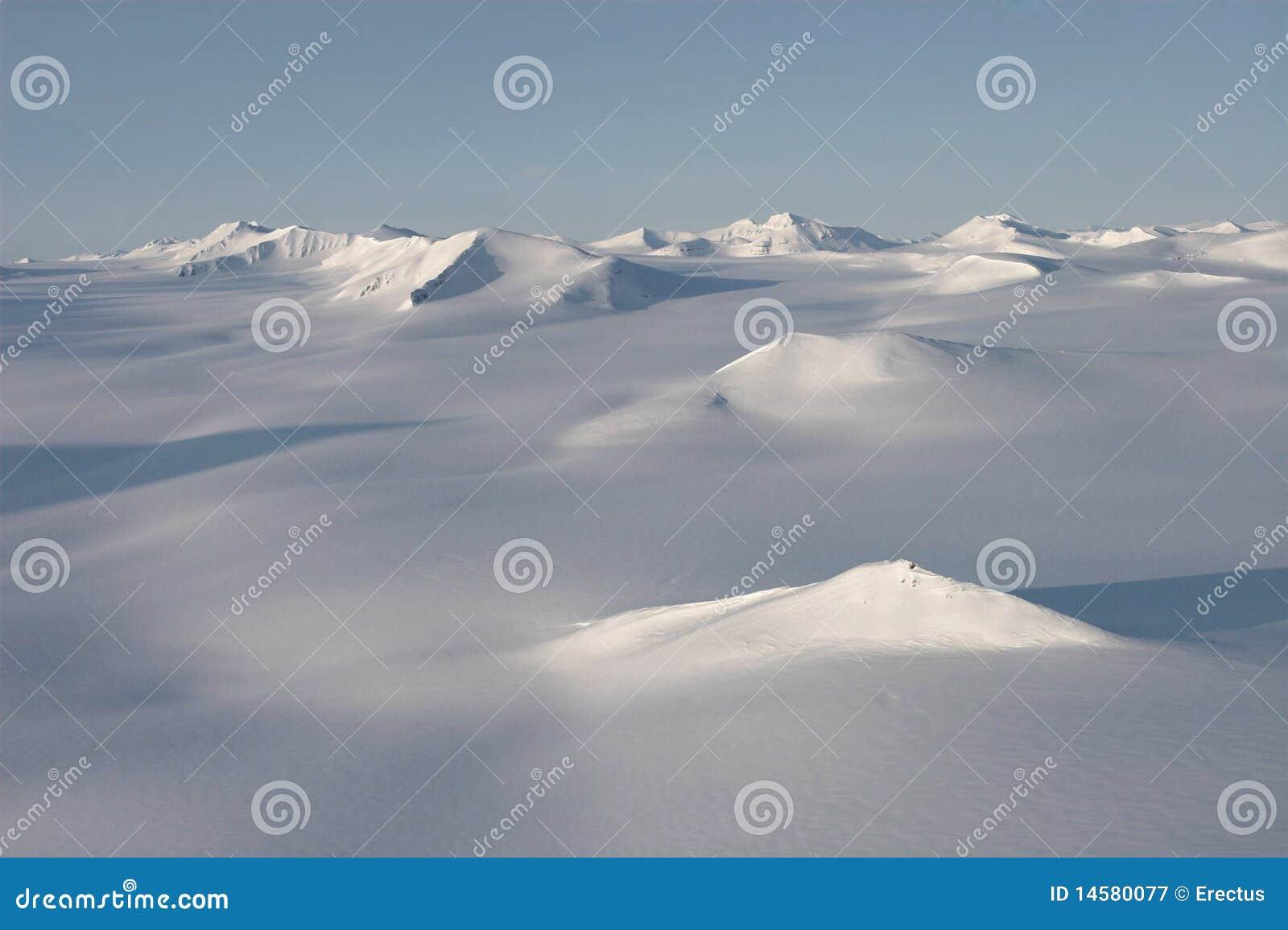 Arctic landscape, glaciers and mountains