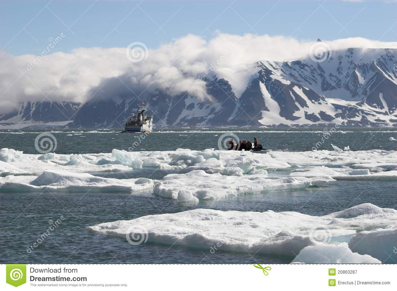 arctic ocean people on boat stock image image of adventure
