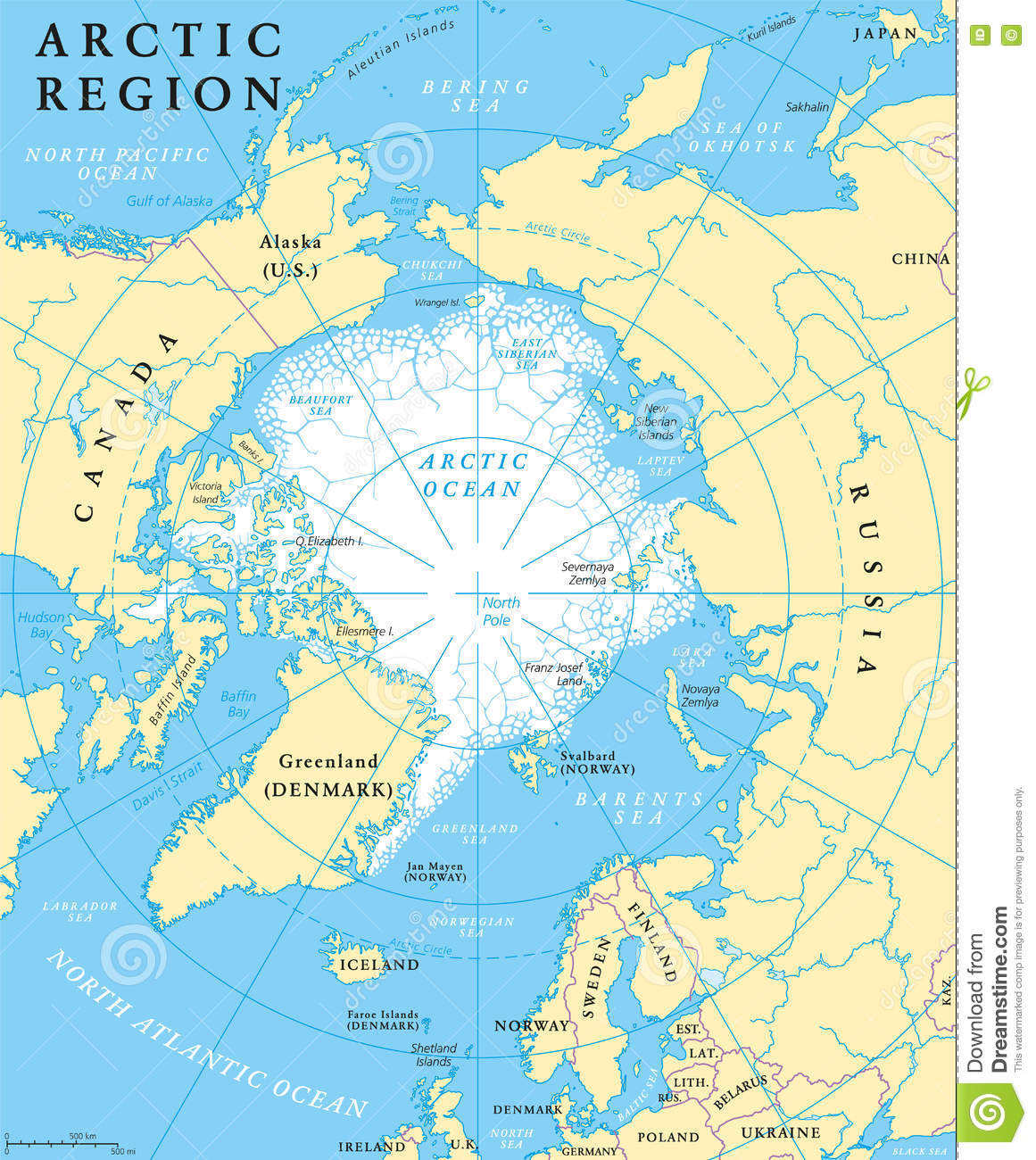 Arctic region map stock vector illustration of iceland 72939109 gumiabroncs Choice Image