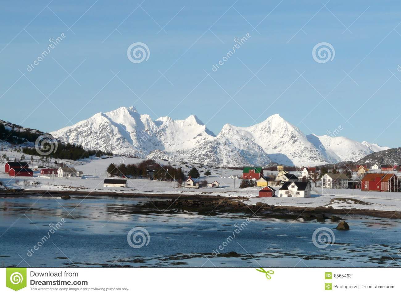 Arctic village in Lofoten