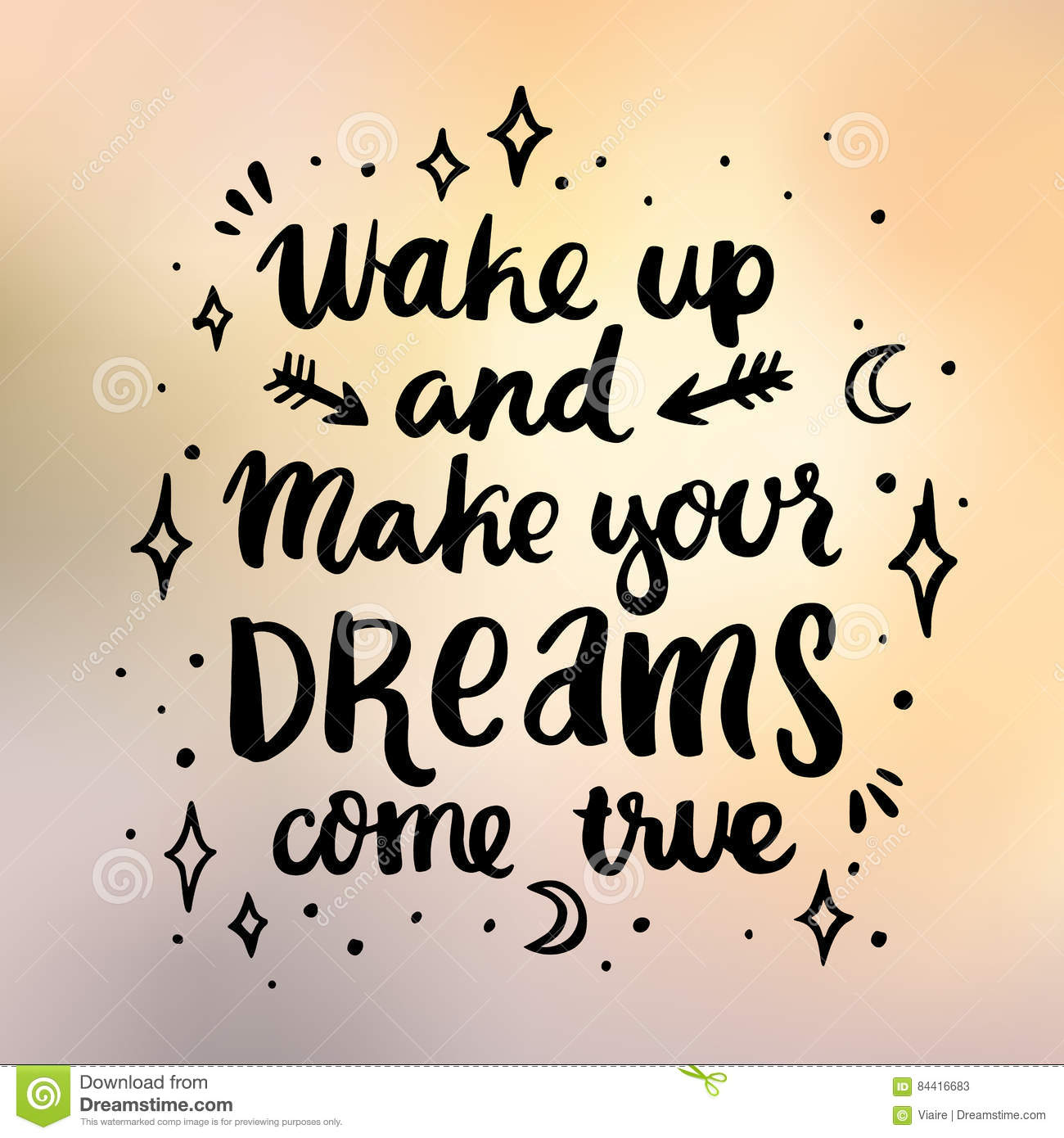 Ard with inscription wake up and make your dreams come true stock download ard with inscription wake up and make your dreams come true stock vector altavistaventures Choice Image