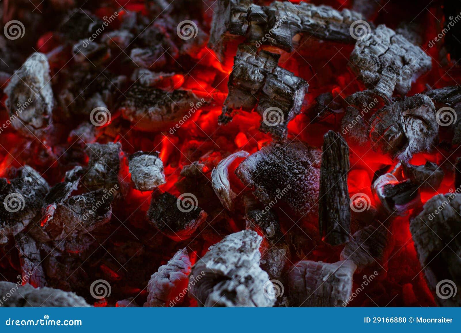 Arde la textura del carbón de leña