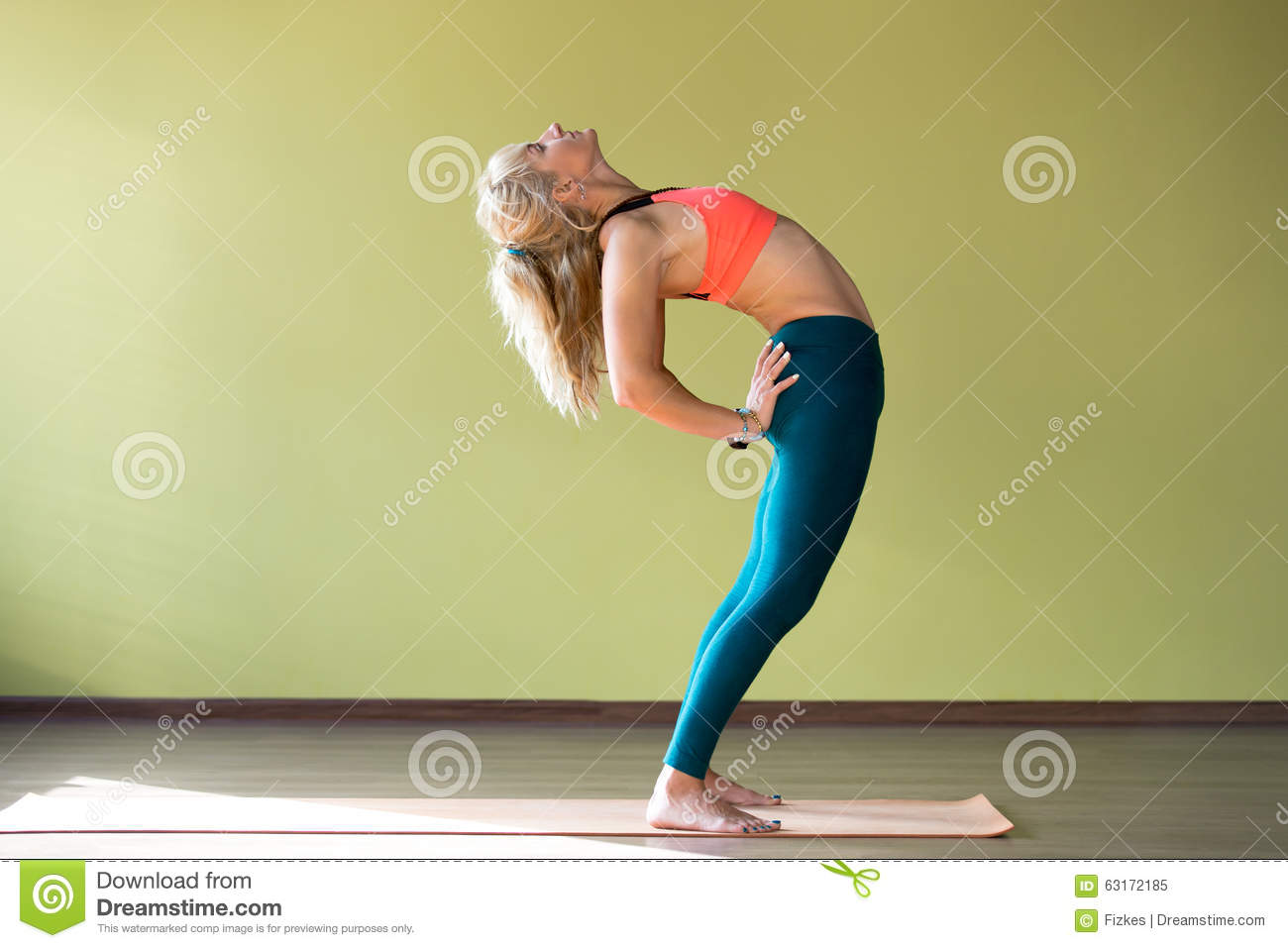 Ardha Chakrasana Pose Stock Photo Image 63172185