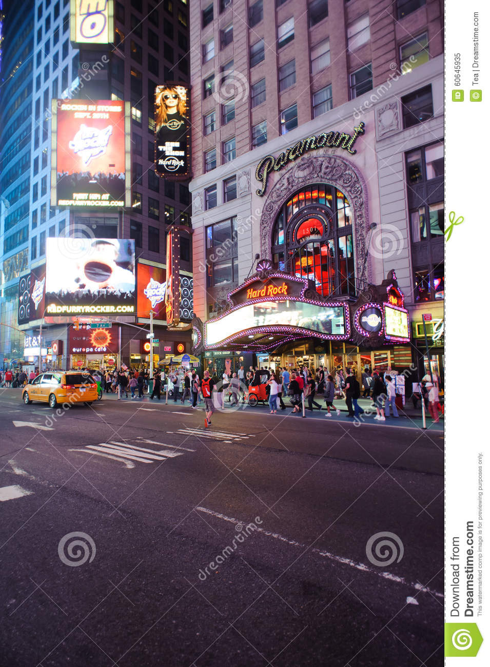 Area around times square at night editorial image image for What to do around times square