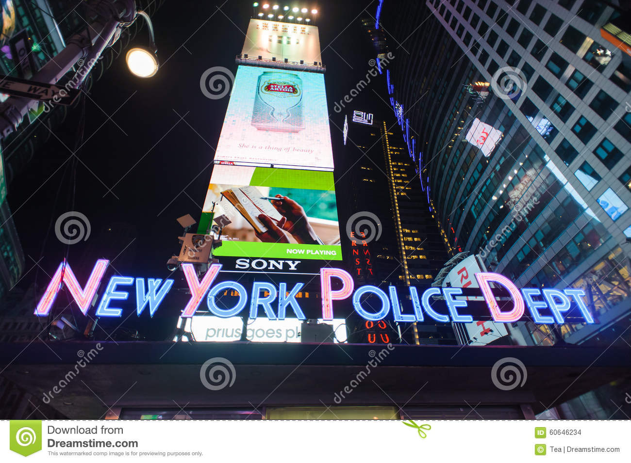 Area around times square at night editorial stock image for What to do around times square