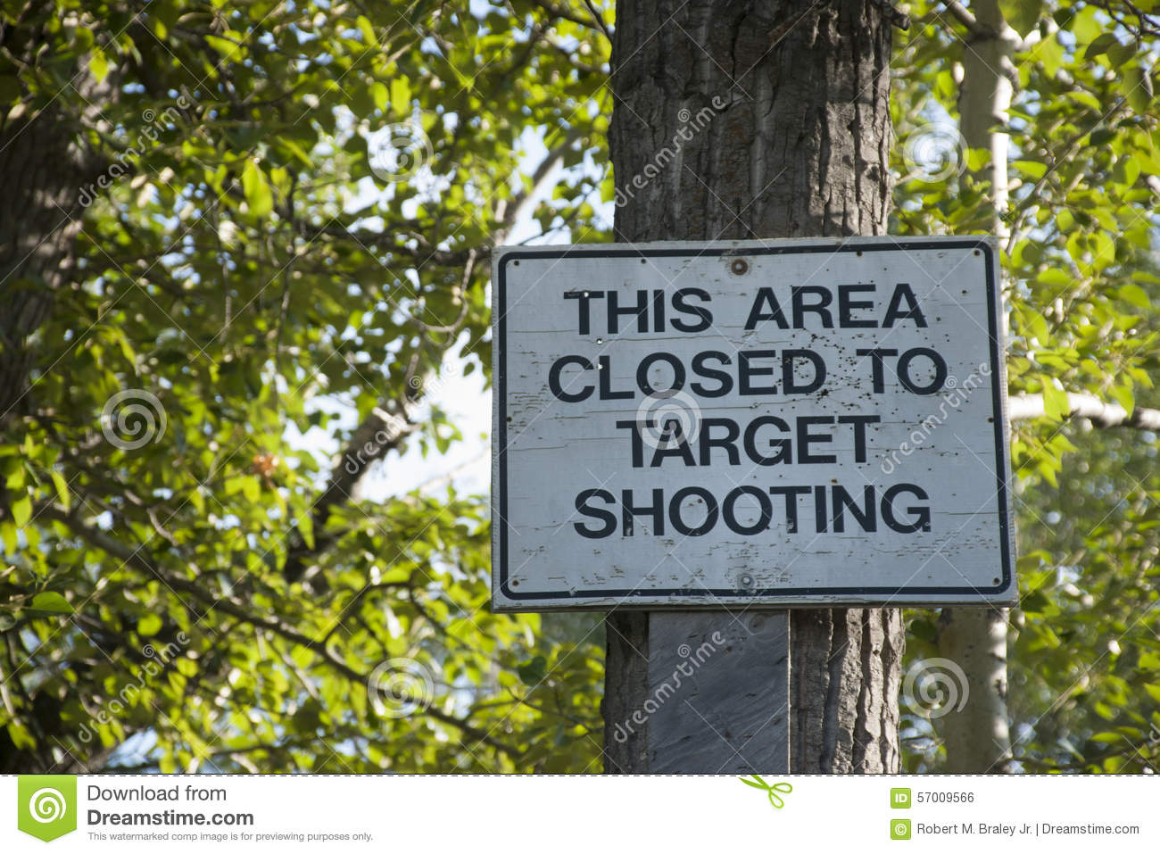 This area Closed to Target Shooting Sign