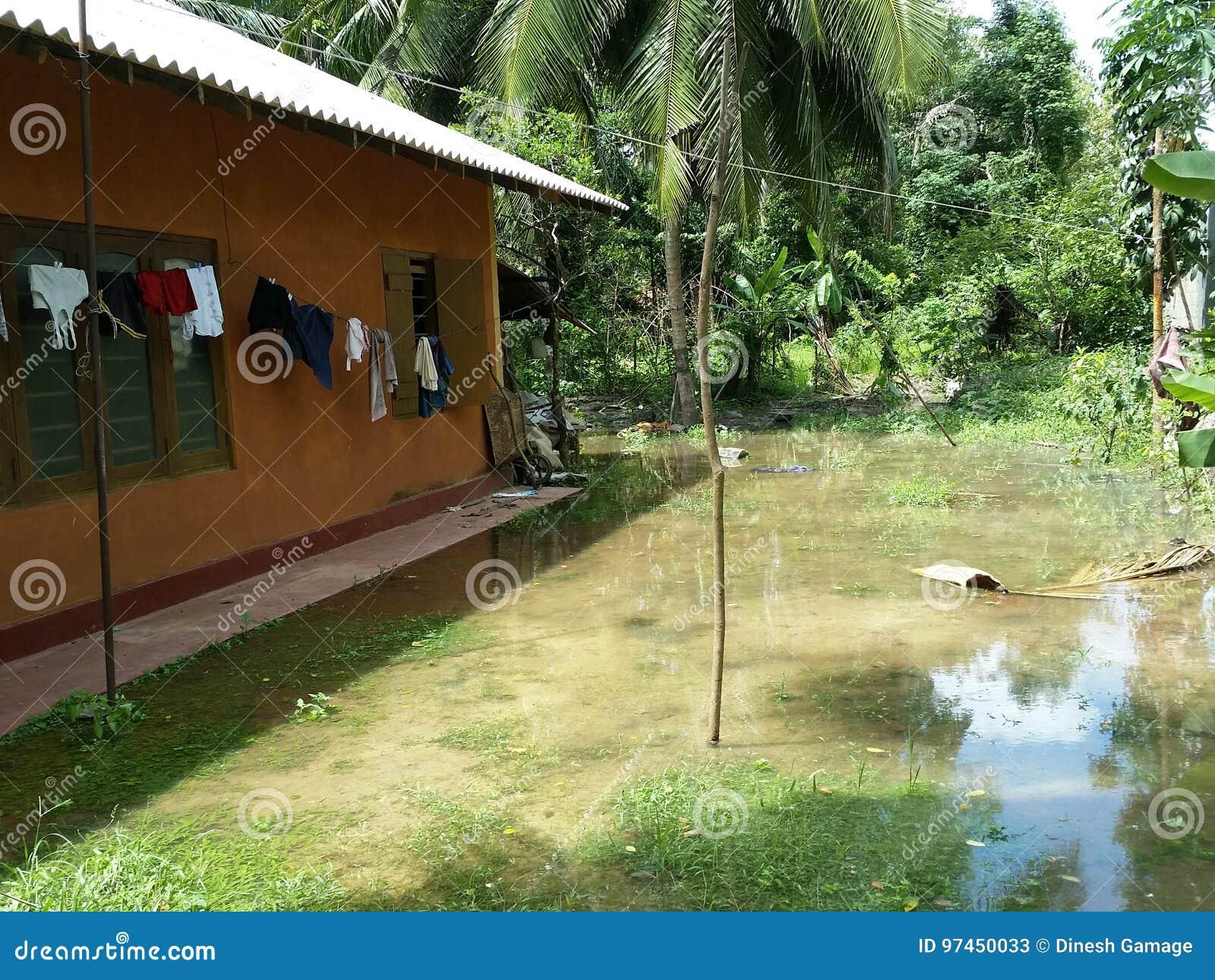 Area di inondazione vicino alla casa