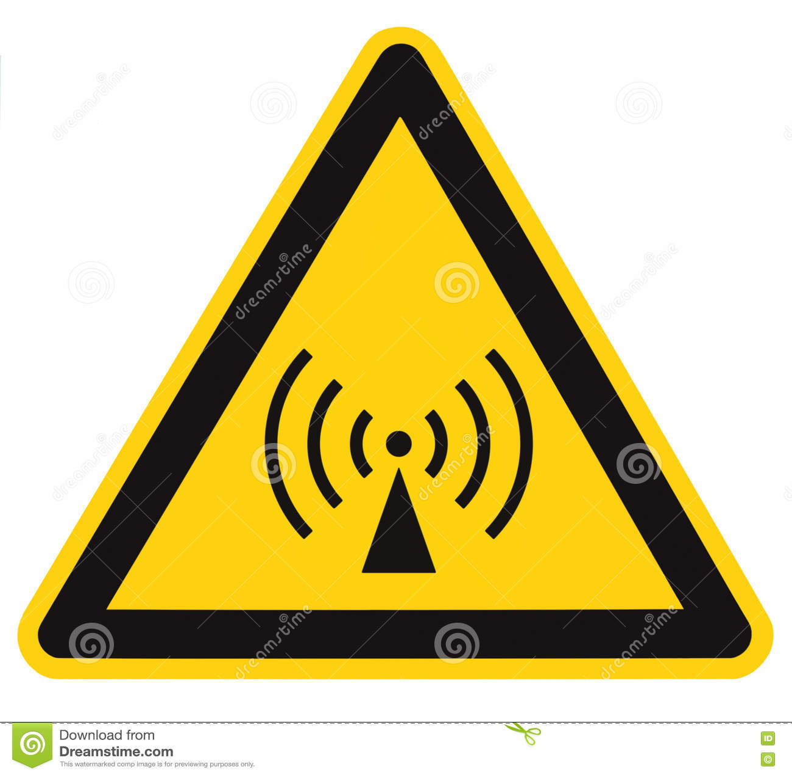 Area di sicurezza non ionizzante di rischio di radiazione, etichetta dell autoadesivo del segnale di pericolo, grande contrassegn