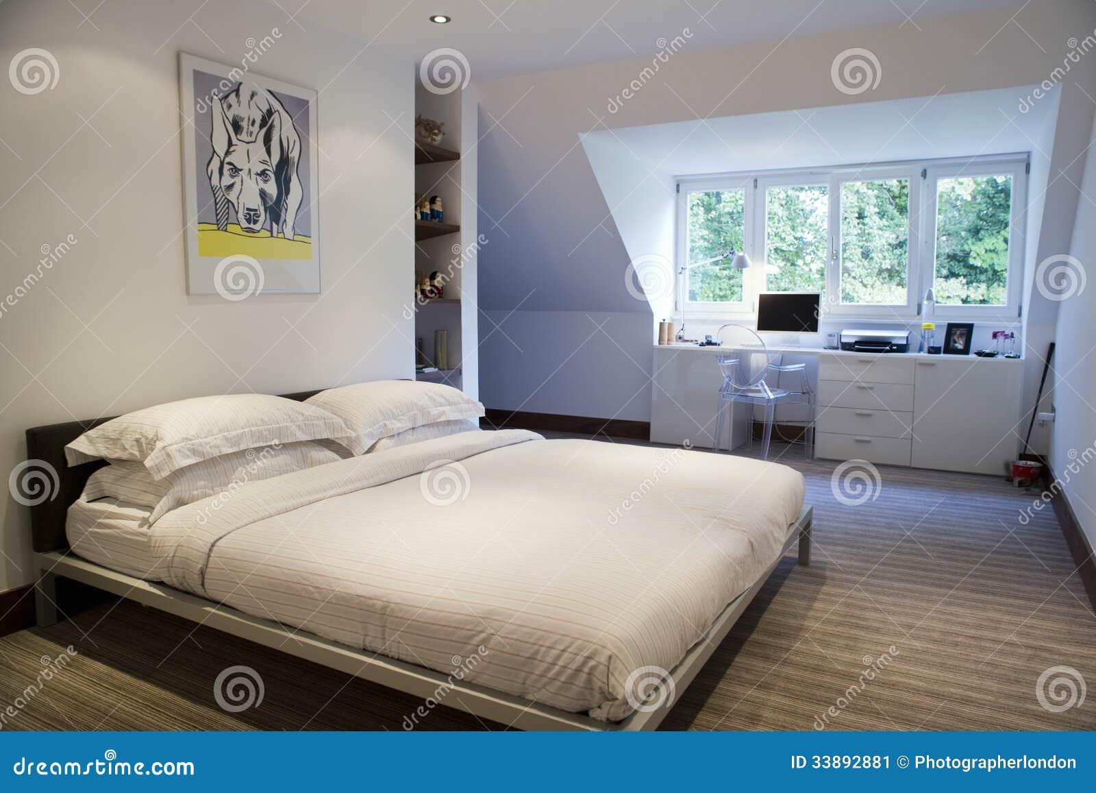 Area di studio in camera da letto immagine stock for Studio in camera da letto