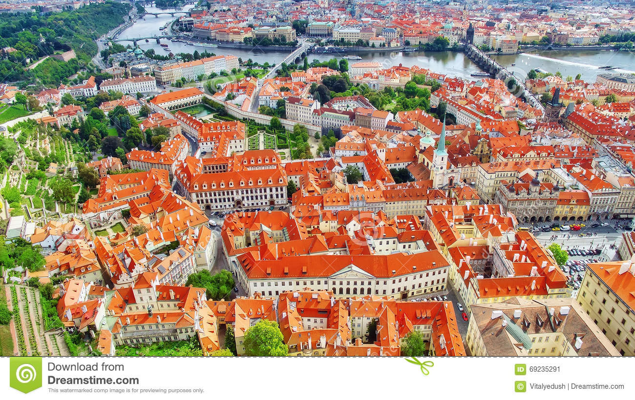 Area lesser town of prague mala strana stock image for Where is prague near
