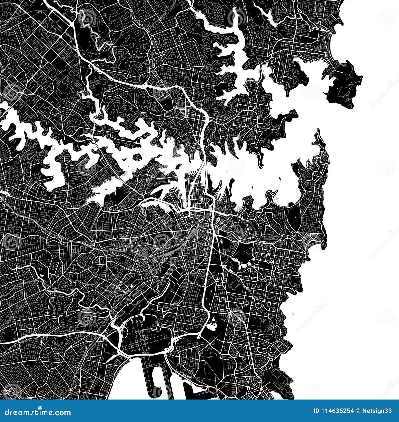 Area map of Sydney, Australia