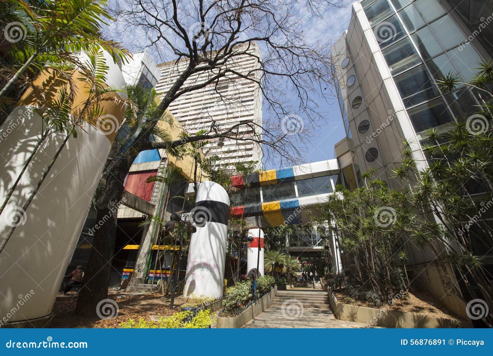 Area moderna del pedone e di architettura a Caracas