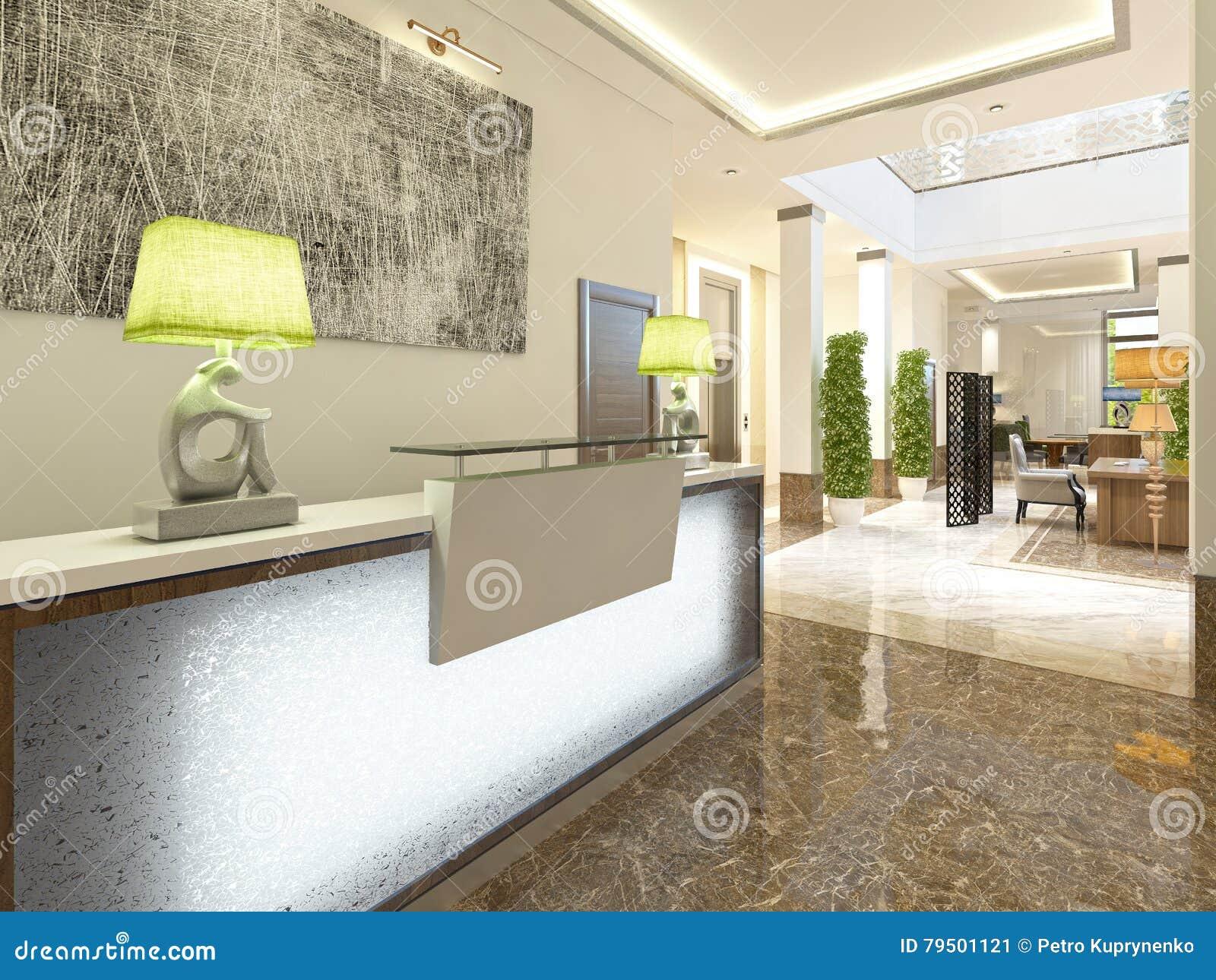 Area reception di progettazione moderna illustrazione di stock
