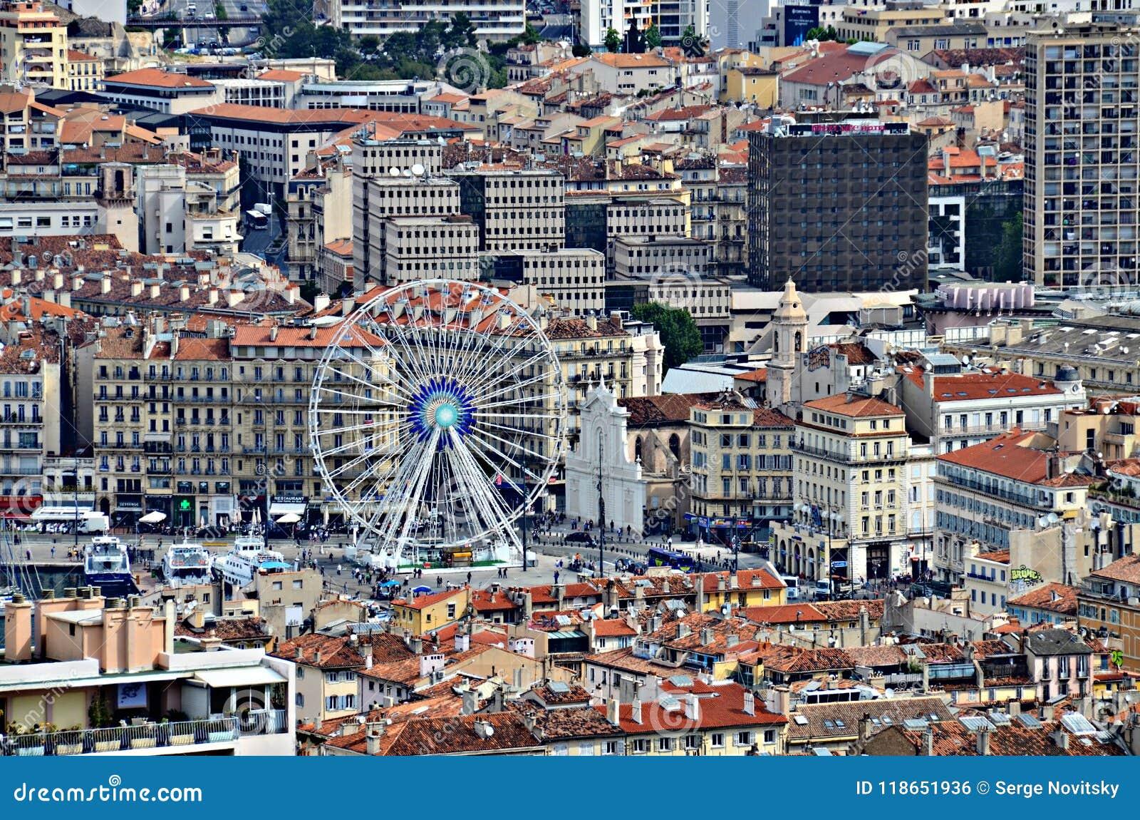 Areal Sikt Pa Marseille Frankrike Redaktionell Bild Bild Av Ferris Bifokal 118651936