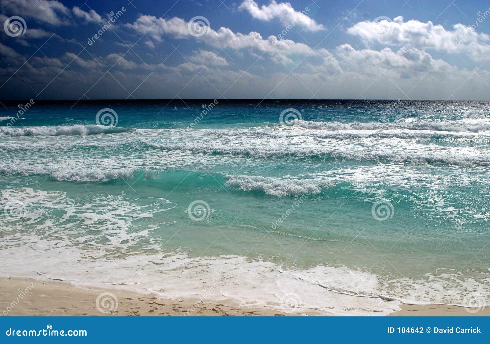 Areia do céu do oceano