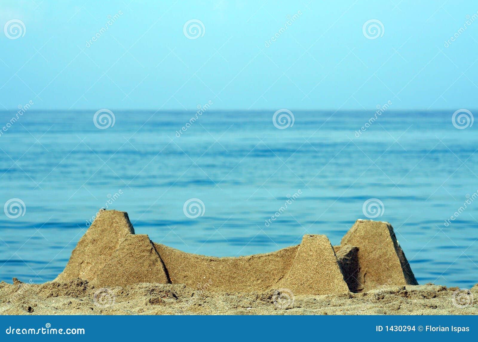 Areia do castelo na praia