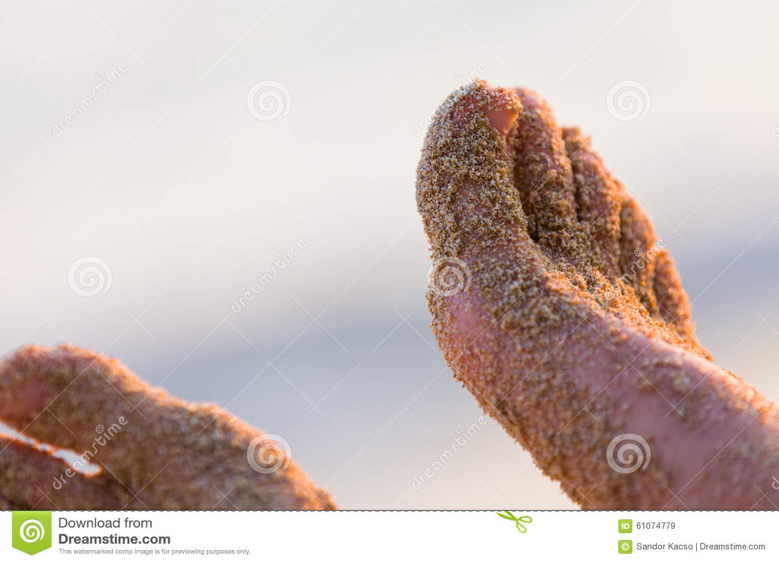 Areia nos pés