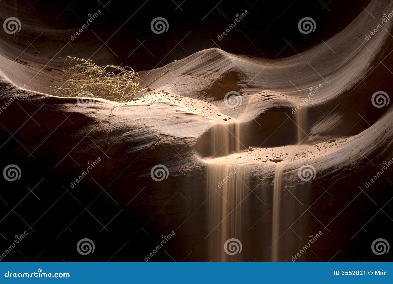 Areia que cai no antílope Canyo