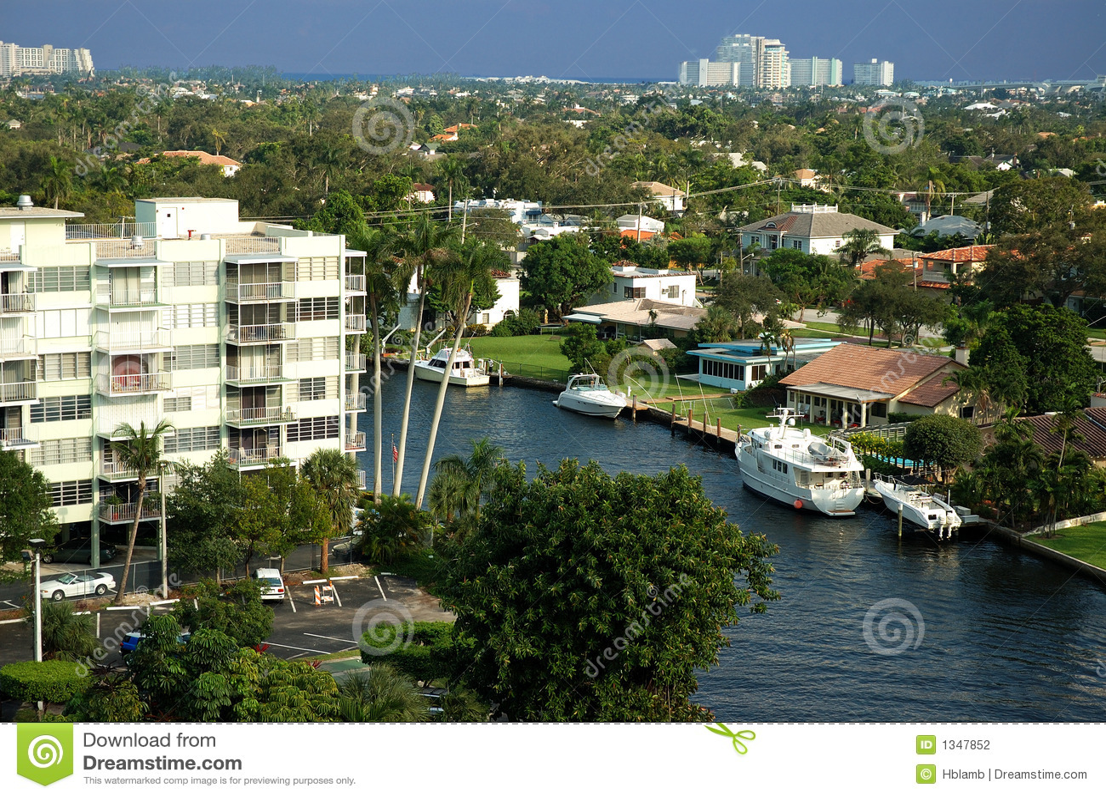 Areial взгляд florida канала
