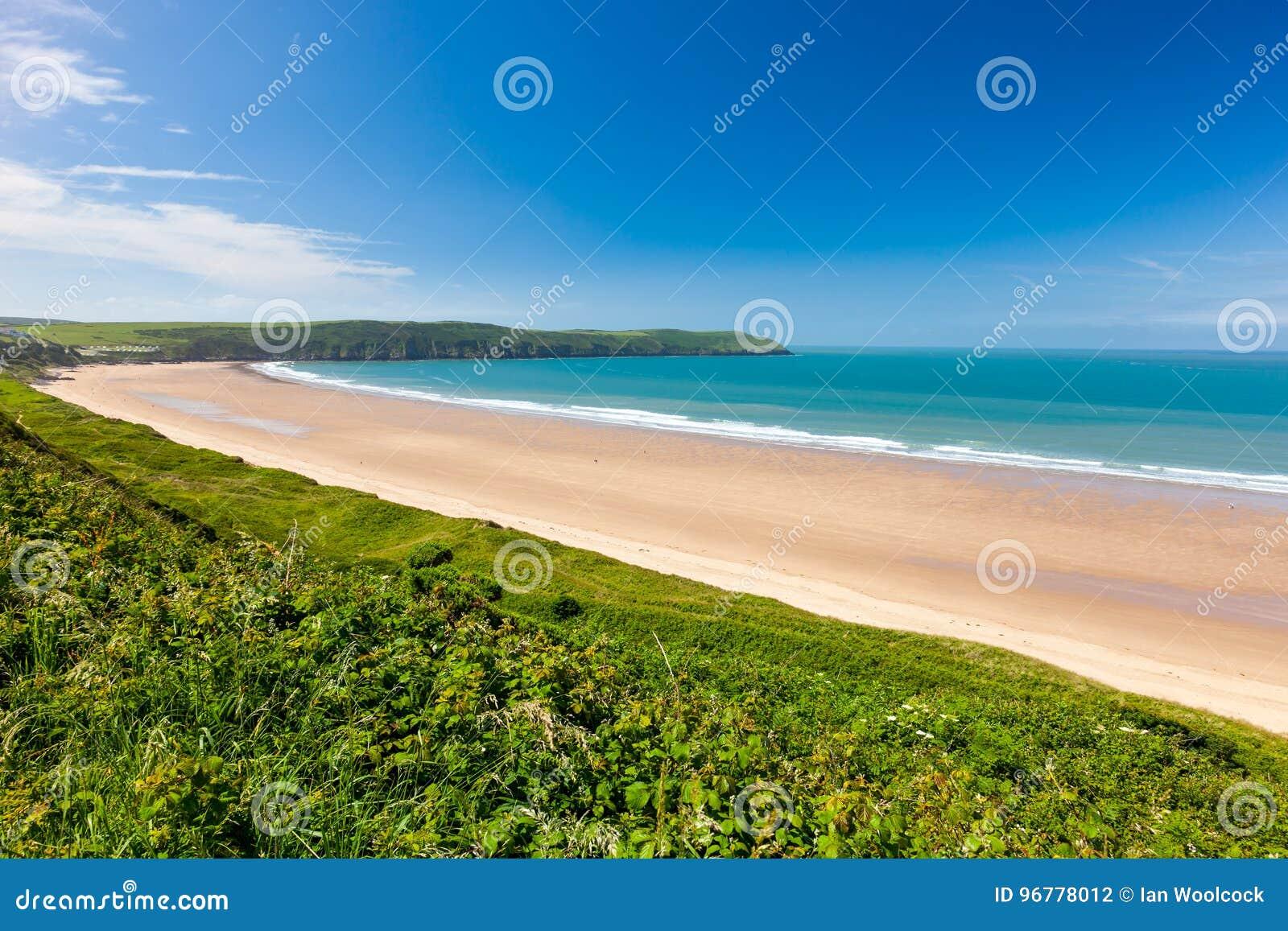 Areias de Putsborough de Woolacombe Warren Devon England