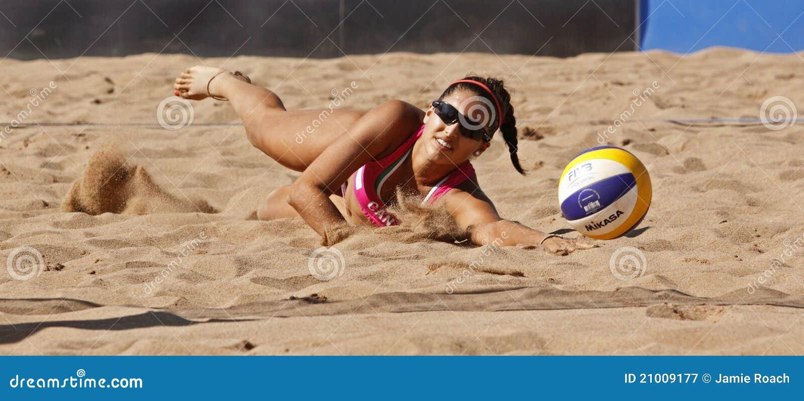 Arena de la mujer de Canadá del voleibol de la playa