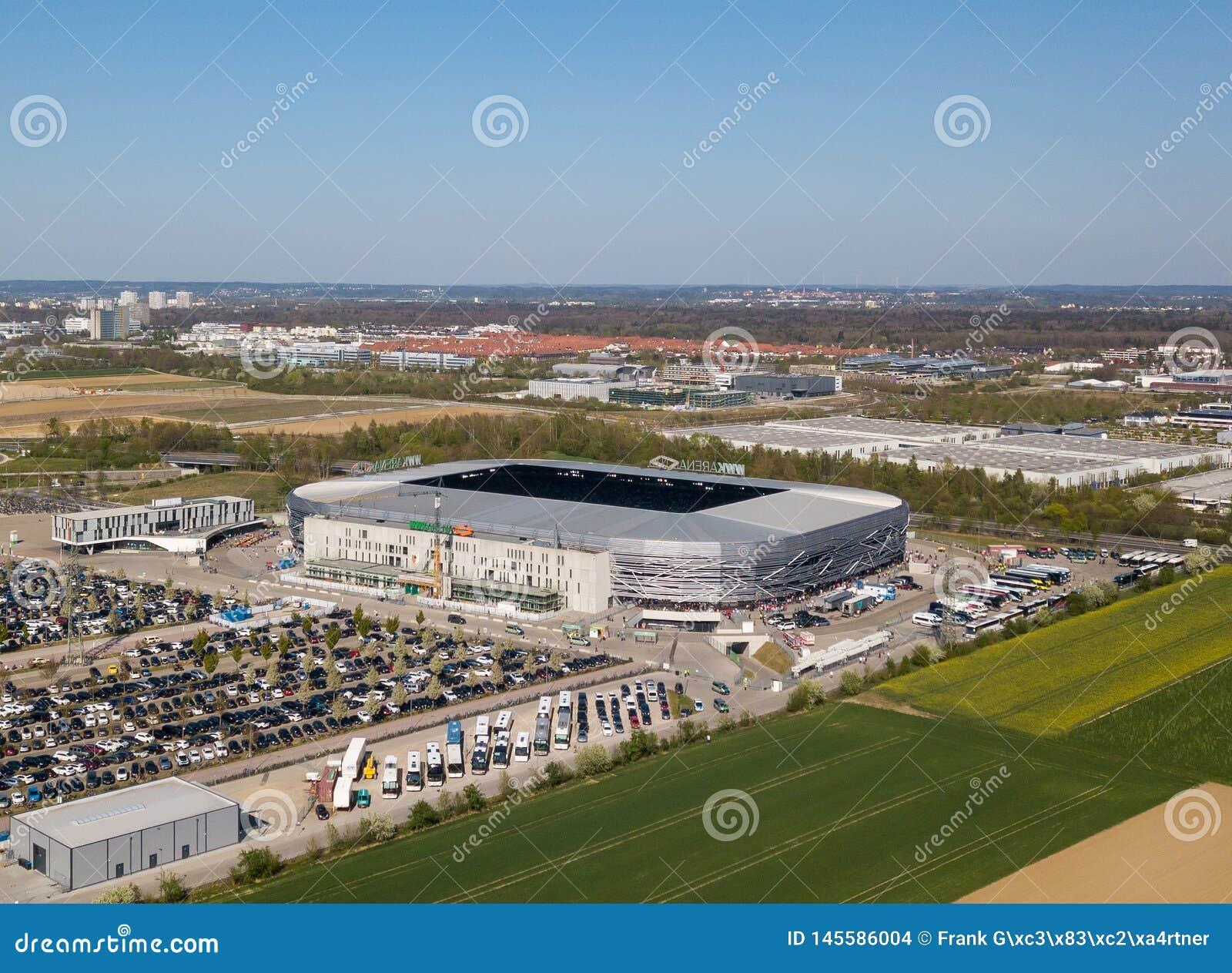 Arena de WWK - o estádio de futebol oficial do FC Augsburg