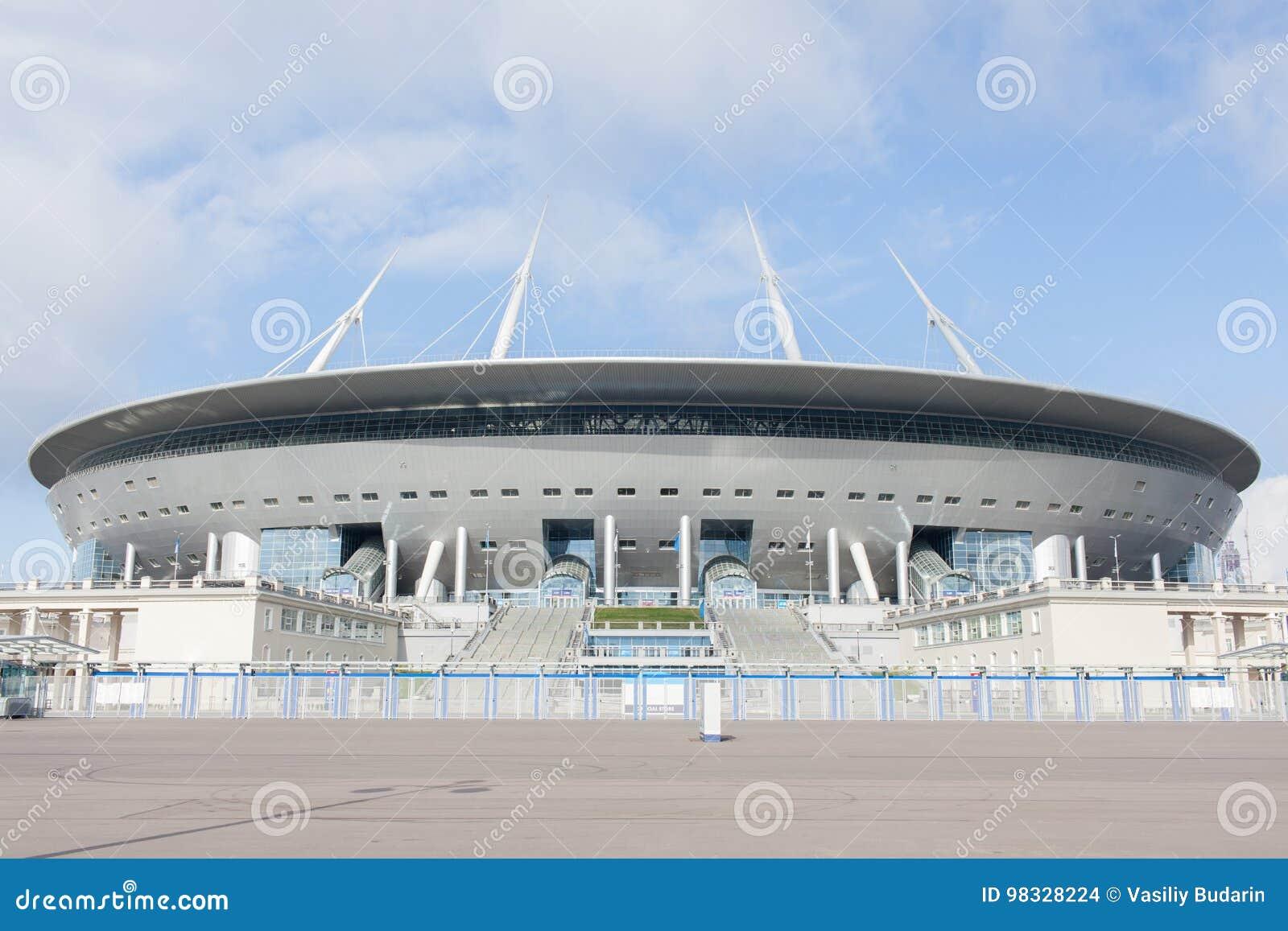 Arena de Zenit do estádio, o mais caramente no mundo, o campeonato do mundo de FIFA em 2018 St Petersburg, Rússia