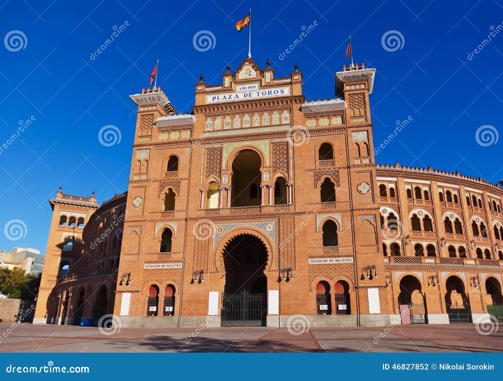 Arena del corrida de la tauromaquia en Madrid España