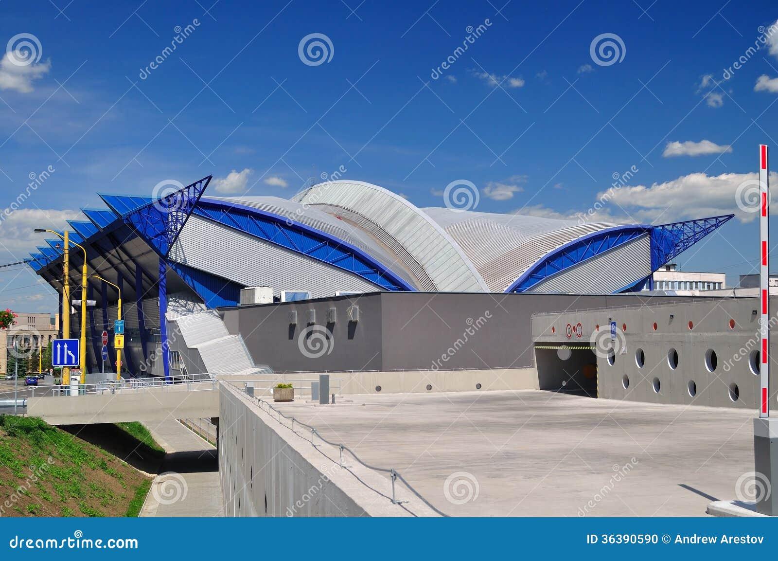 Arena del hielo en Kosice. Eslovaquia