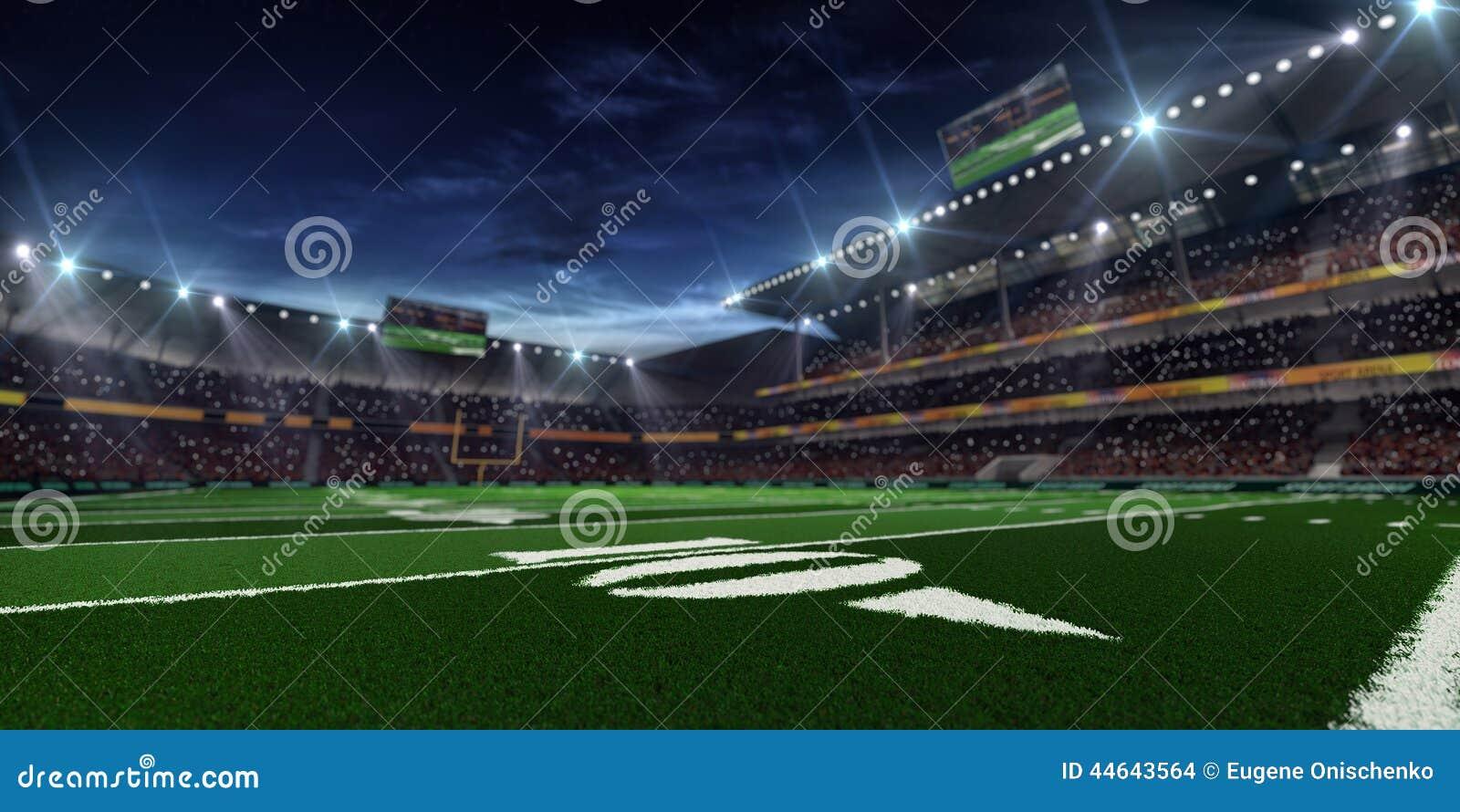 Arena di football americano di notte