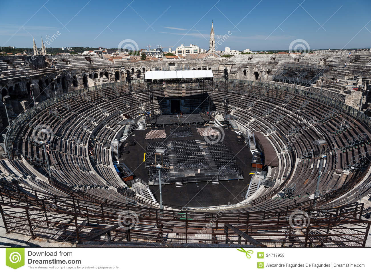 arena of nimes france editorial stock photo image 34717958. Black Bedroom Furniture Sets. Home Design Ideas