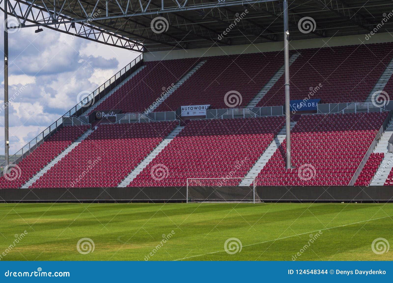 Arena vacía del fútbol