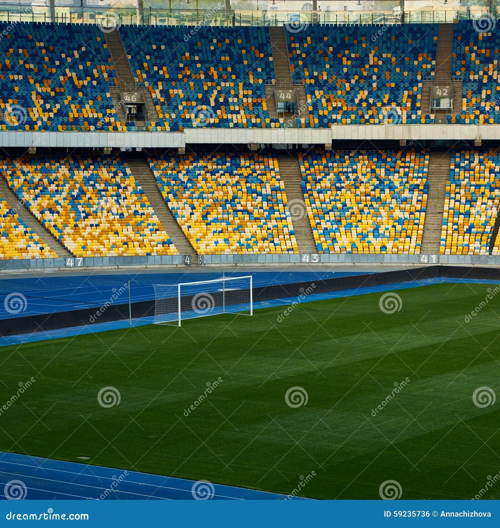Download Arena Vacía Enorme Del Fútbol Foto de archivo - Imagen de verde, nadie: 59235736