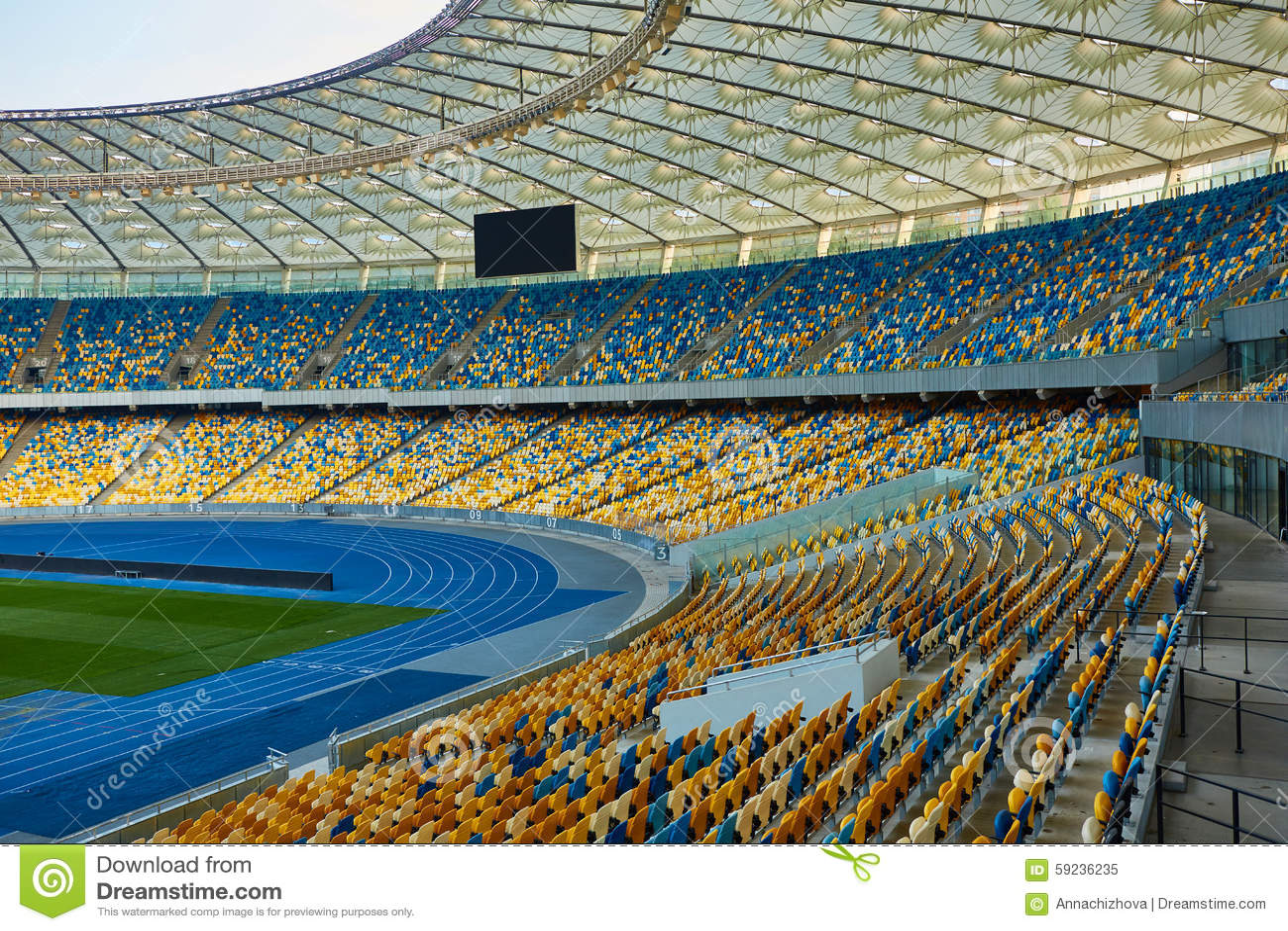Download Arena Vacía Enorme Del Fútbol Imagen de archivo - Imagen de verde, blank: 59236235