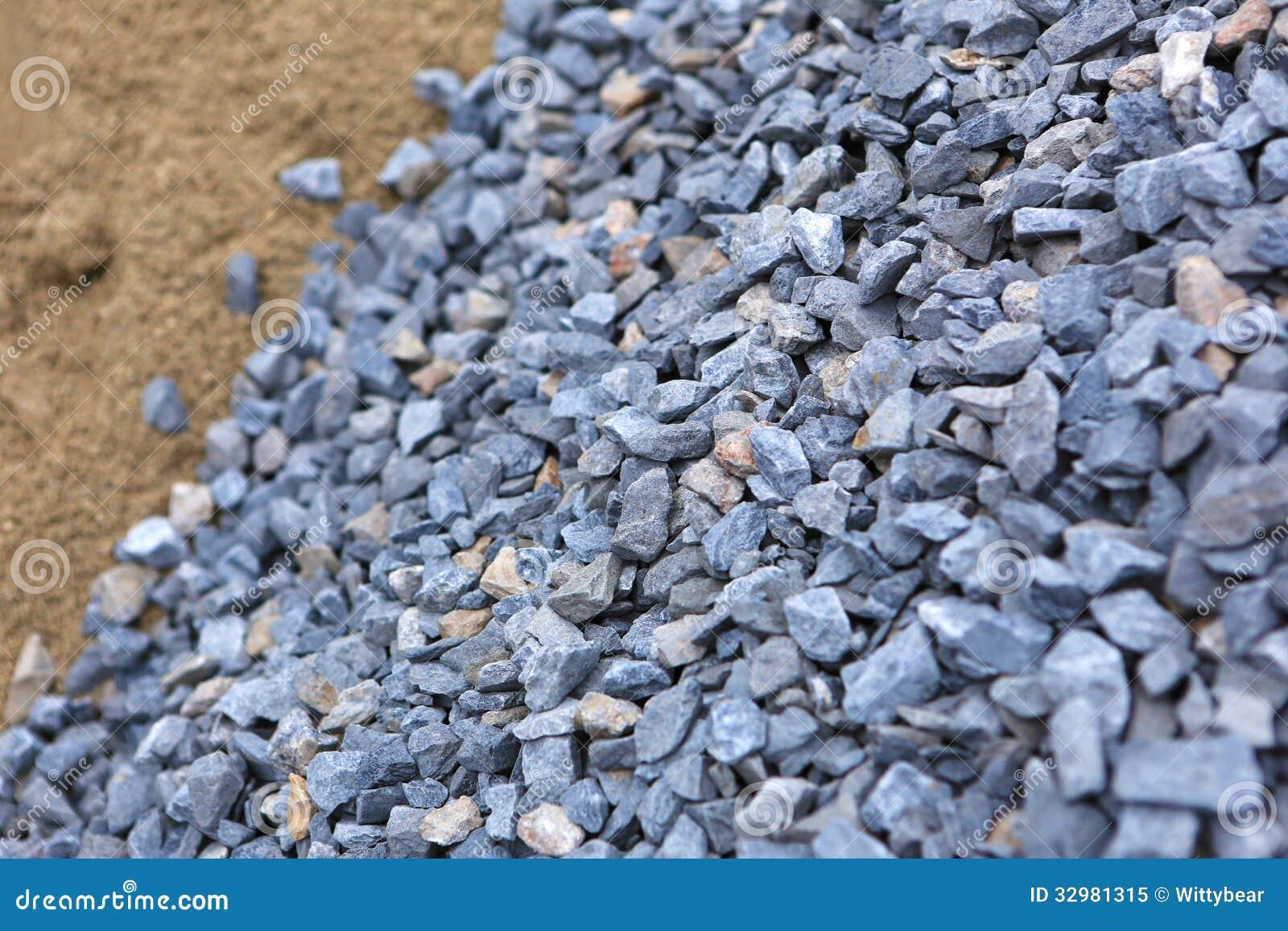 Arena y piedra para la construcci n imagen de archivo imagen de mont n edificio 32981315 - Piedras para construccion ...