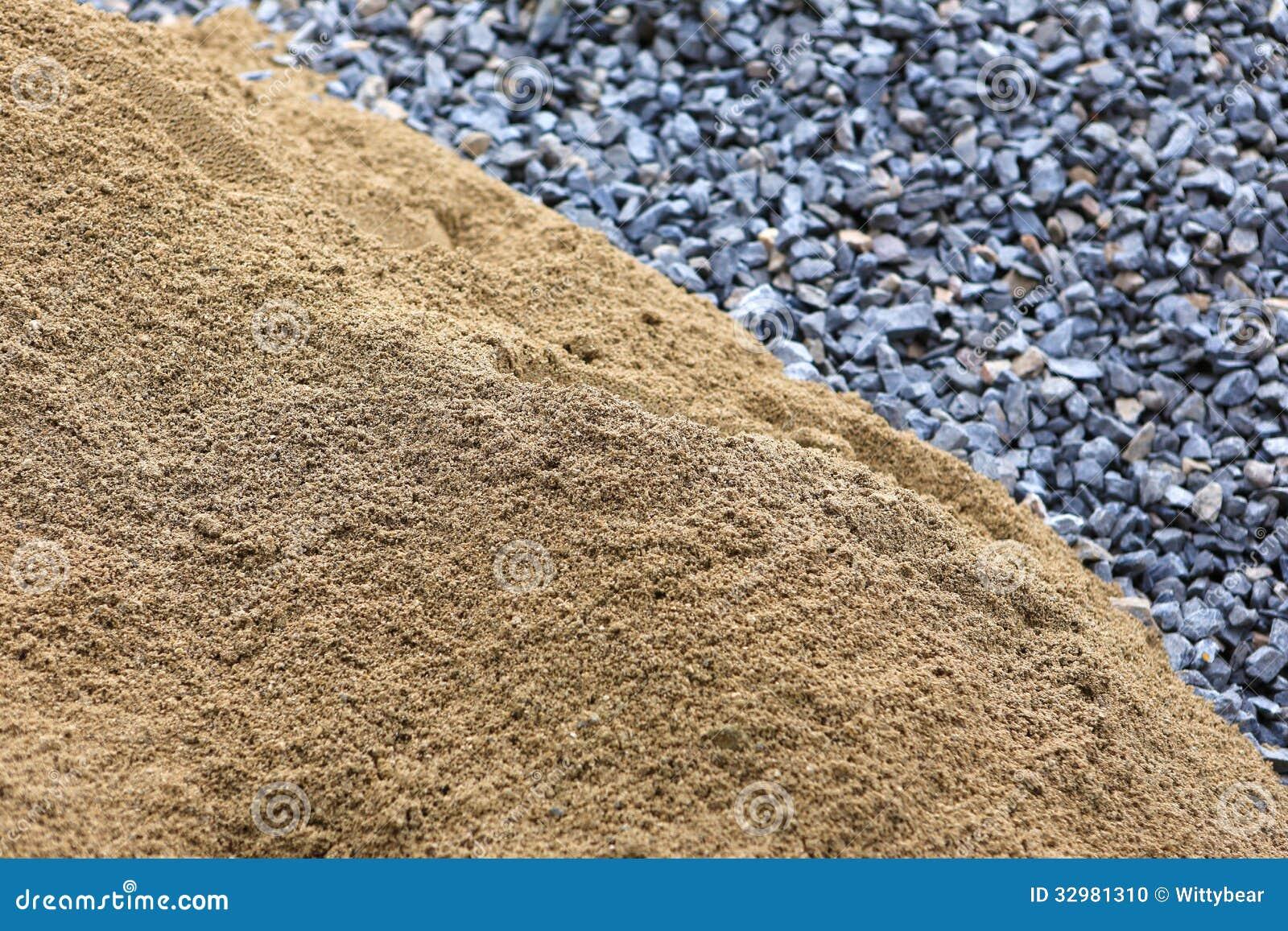 Arena y piedra para la construcci n foto de archivo - Piedras para construccion ...