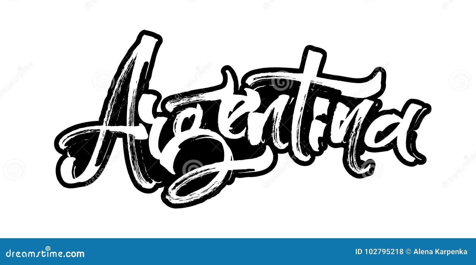 Arenaceous Modern kalligrafihandbokstäver för serigrafitryck